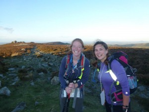 Our first goal hit; we made it over the Stiperstones in daylight!