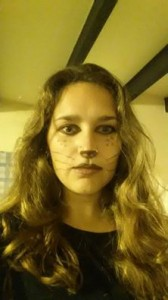 You know when you have to come up with a costume and the best you can do is destroy your eyeliner while googling 'cat makeup'...